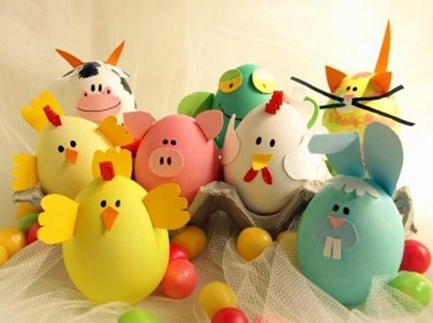 Huevos De Pascua Animales Manualidades Ninos Mi 1er Cole