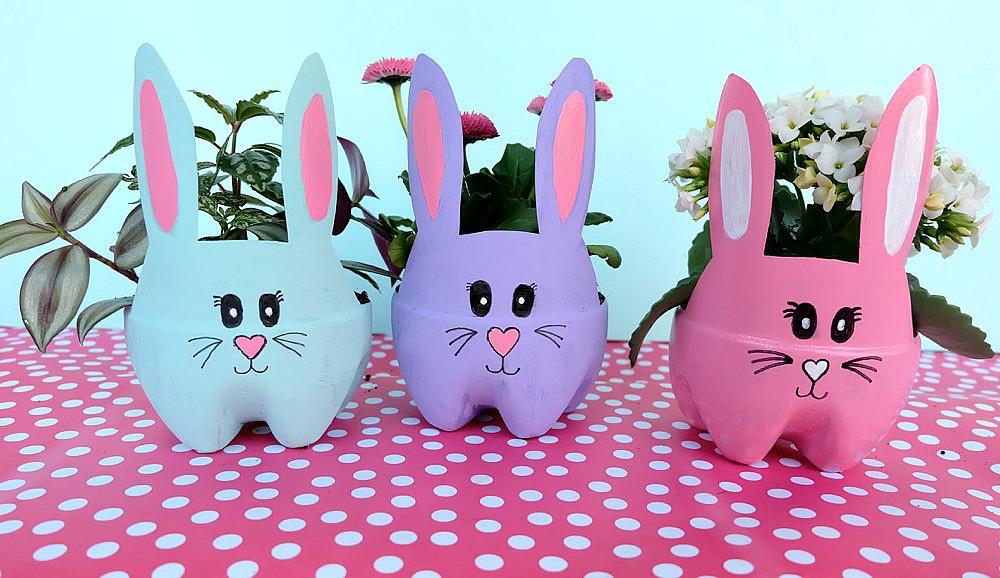 Cómo hacer un conejo macetero - MI 1er COLE